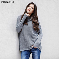 VISNXGI New 9 Colours Women Sweater Pullovers Fashion Casual Long Sleeve O Neck Knitted Christmas Sweter
