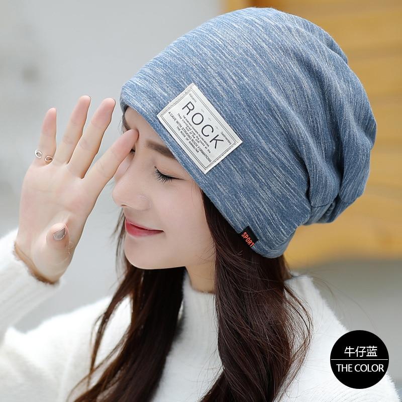 Autumn and Winter Hats Female Korean Casual Wild Warm Pregnancy Fashion Heaps Hats Sleeping Hats Turban