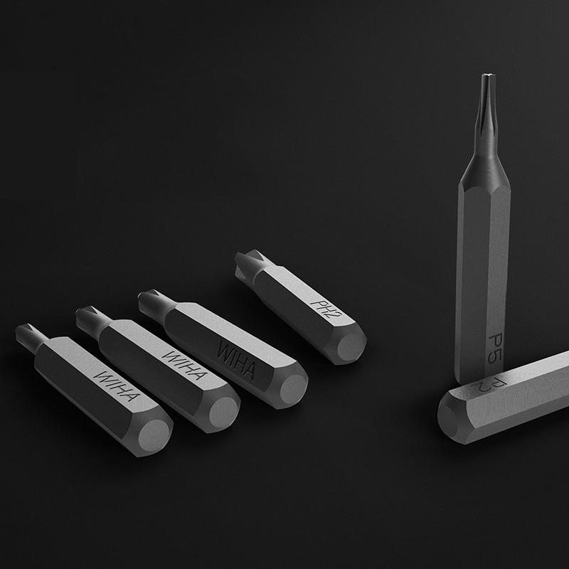Original Xiaomi Mijia Wiha Daily Use Screw Kit 24 Precision Magnetic Bits Aluminum Box Screw Driver xiaomi smart home Kit