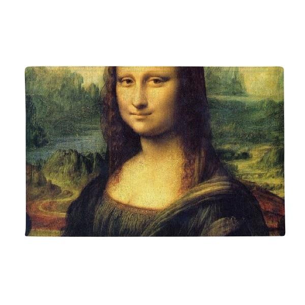 Mona Lisa Smile DaVinci Oil Panintings Anti-slip Floor Mat Carpet Bathroom Living Room Kitchen Door 16x30Gift