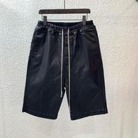Owen Seak Men Casual Harem Shorts Cotton Denim Jean Gothic Men's Clothing Sweatpants Summer Women Knee Length Loose Black Shorts