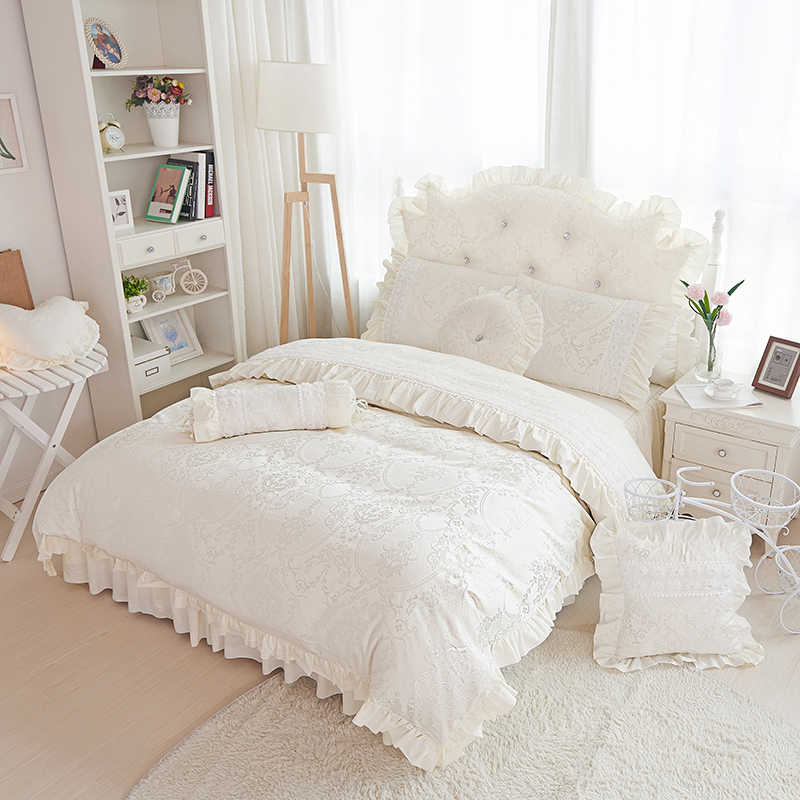 Роскошный хлопковый жаккардовый пододеяльник Комплект постельного белья в