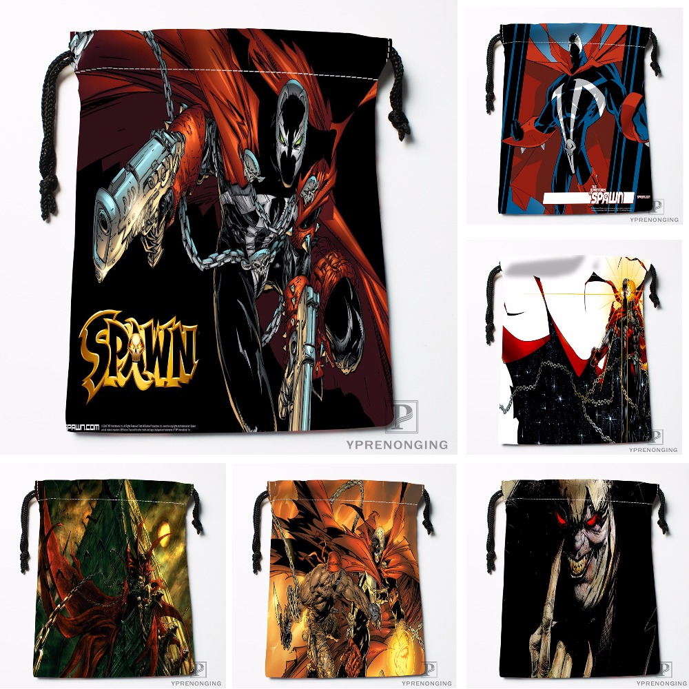 Custom Spawn Comics Drawstring Bags Printing Travel Storage Mini Pouch Swim Hiking Toy Bag Size 18x22cm