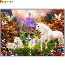 5D Diy Diamond painting unicorn Embroidery horse Full Square mosaic Rhinestone Crafts Animal Paradise