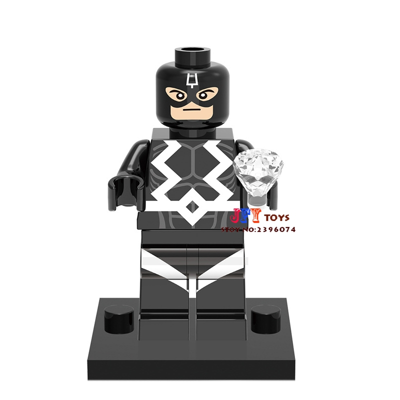 50pcs superhero Black Bolt building blocks bricks friends for girl boy kids children toys brinquedos menina