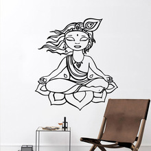 Creative Meditation Wall Sticker Diy Wallpaper For Home Decor Living Room Bedroom Decals muursticker vinilo decorativo