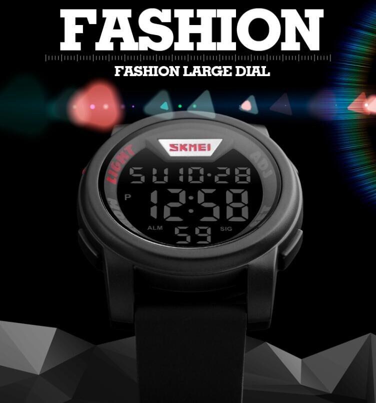 Água Esportes Digital LED Relógios Homens 50