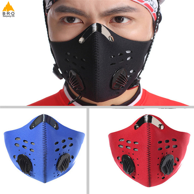 Anti-pollution City Cycling Face Mask Mouth-Muffle Dust Mask Bicycle Sports Protect Moto Cycling Masks Cover Protective