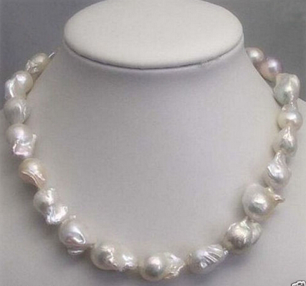 Hot sell ->@@ AS1333 REAL HUGE SOUTH SEA WHITE BAROQUE PEARL NECKLACE 18 quality free shippingHot sell ->@@ AS1333 REAL HUGE SOUTH SEA WHITE BAROQUE PEARL NECKLACE 18 quality free shipping