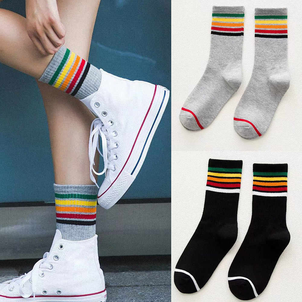 Women Socks Ladies Girls Cotton Warm Soft Sox colored