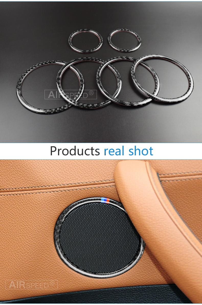 Airspeed for BMW F25 X3 X4 F26 X4 BMW F26 F07 Sticker for BMW X3 F25 Carbon Fiber Interior Trim Stickers Car Door Speaker Ring (6)