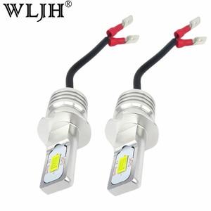 Image 1 - WLJH 2x DC12V  24V High Power White 3570 CSP Chip H3 LED Replacement Bulbs For Car Fog Lights, Daytime Running Lights, DRL Lamps