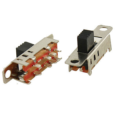 Home Appliance Parts Home Appliances 100 Pcs Dc 50v 0.5a 2 Position Dpdt 2p2t Pcb Mount Vertical Slide Switch 6 Pin Dip Ss22f04 Convenience Goods