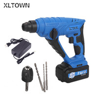 XLTOWN21v electric Hammer light lithium battery impact electricdrill rechargeable lithium battery multi function electric hammer