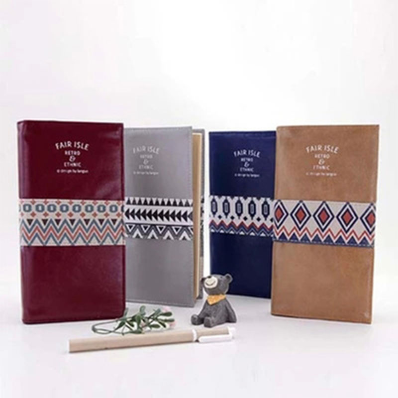 Languo Business PU Notebook Classic Scotland Travel Composition Book Fair Isle Retro&Ethnic Leather Note Book Office Stationery maritime travel log classic vintage retro classic pu leather blank pages copper plated sea anchor and straps sketchbook notebook