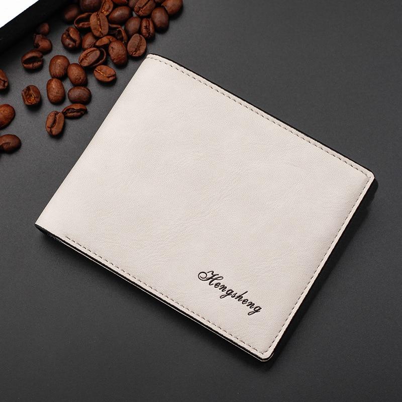 2017 Men Leather Brand Luxury Wallet Vintage Minimalist Short Slim Male Purses Money Clip Credit Card Dollar Price Portomonee