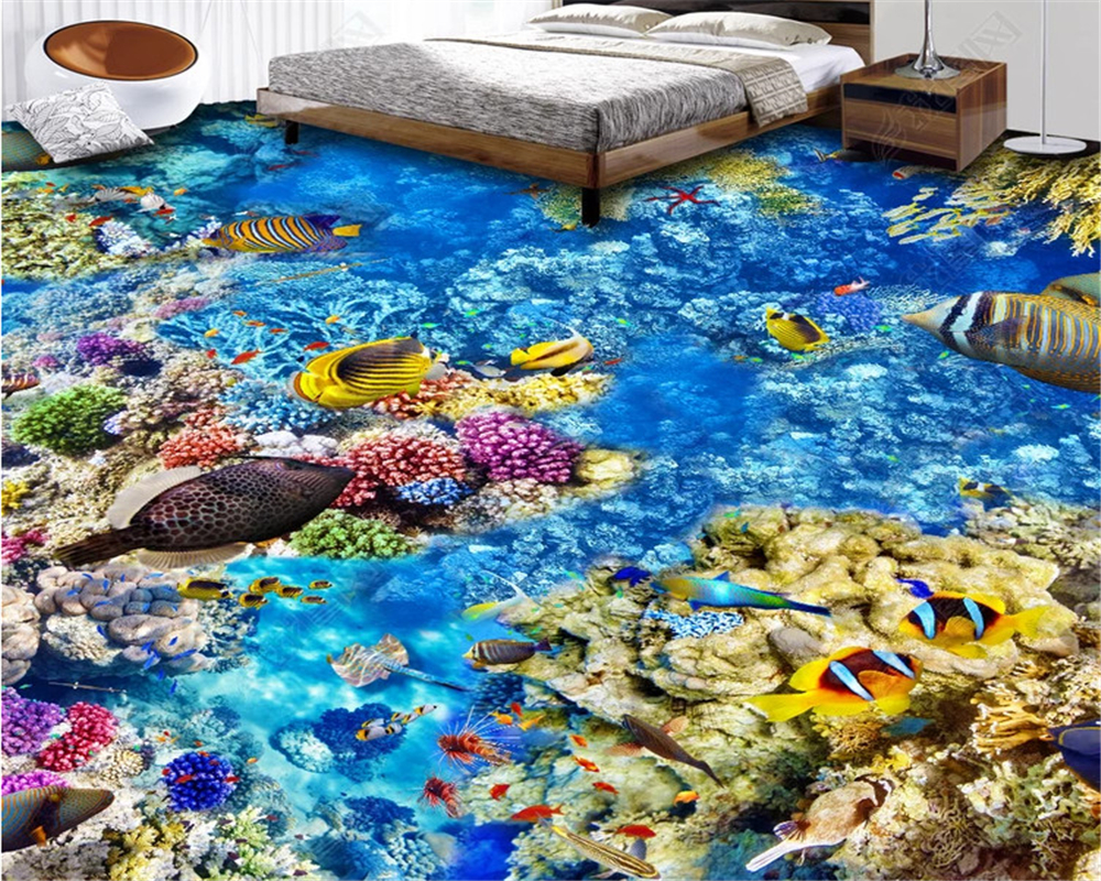 Beibehang Custom Self Adhesive Wallpaper Hd Underwater Mural 3d