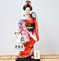 30cm Kawaii Japanese Lovely Geisha Figurines dolls with beautiful kimono New house office decoration Miniatures birthday gift