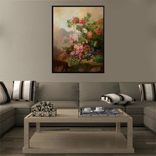купить Modern Home Decor Wall Artwork 1PC Mountain Wildflowers Oil Painting Art Canvas Printed Best Gift for Office Decoration No Frame по цене 898.81 рублей