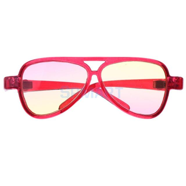 c2b1f702b7613 1 3 BJD Oversize Glasses Eyeglasses Sunglasses Eyewear for SD AS DZ Dollfie  Uncle Doll Clothes Decor Ombre Pink Yellow Lens