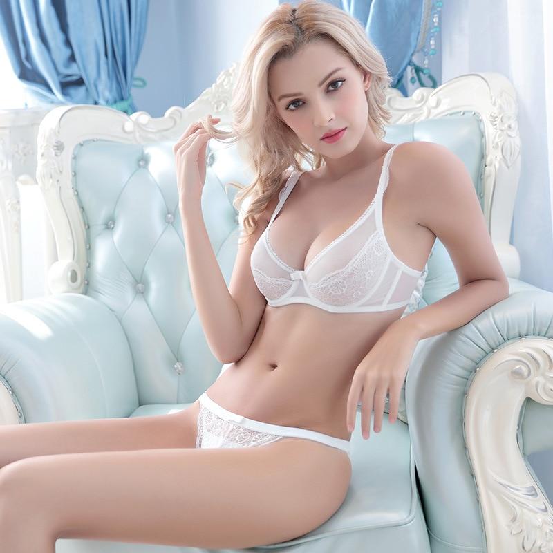 c617de909ccf0 Transparency sexy bra breathable underwear suits Ms lace ultra-thin bra set  Women sexy enchanting underwear set free shipping