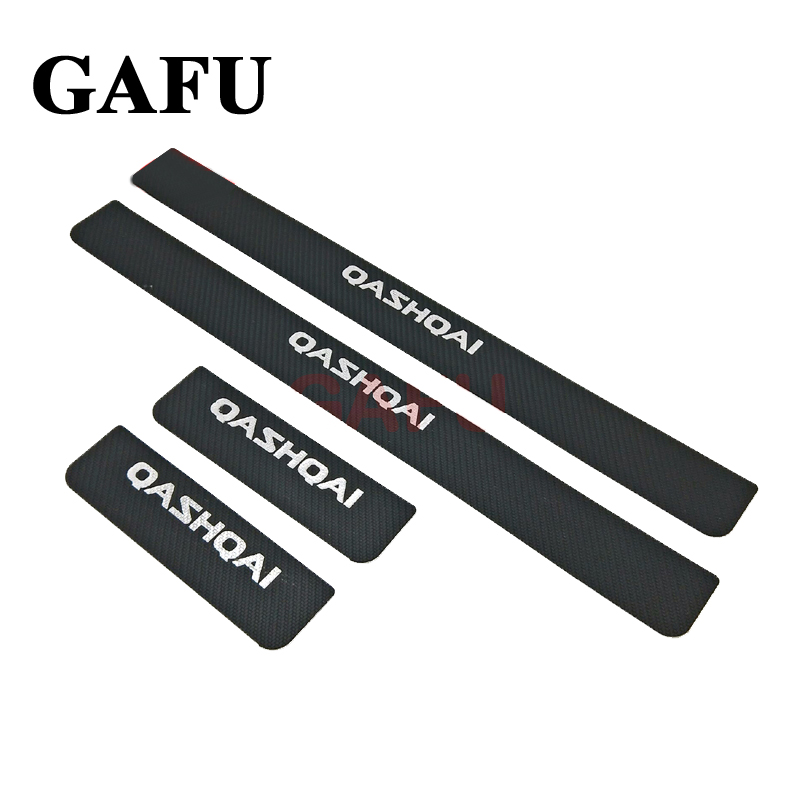 For <font><b>Nissan</b></font> <font><b>Qashqai</b></font> J11 2017 <font><b>2016</b></font> 2015 Door Sill Scuff Plate Guards Door Sills Strip Protector Stickers Car <font><b>Accessories</b></font> image