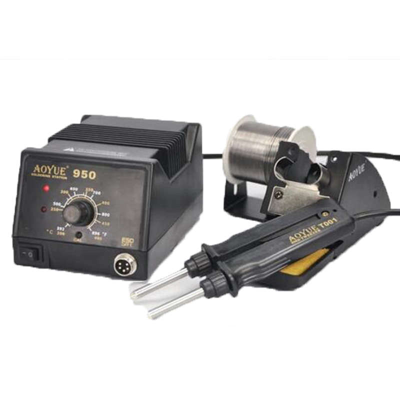 ФОТО  Aoyue 950 SMD Hot Tweezer Repair rework station,SMD Hot Air Soldering Station/Machine,available in 110V / 220V