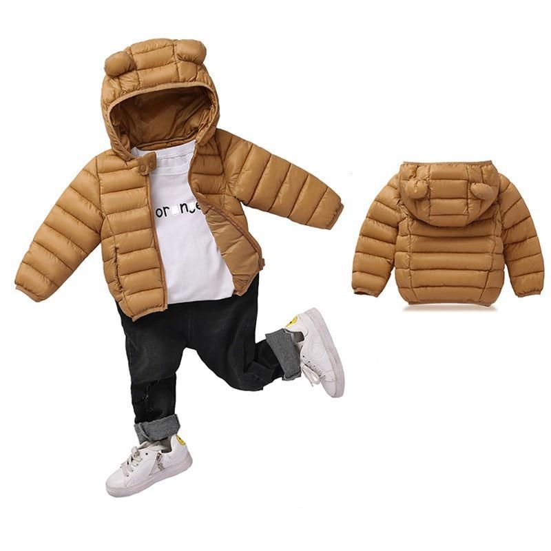 COOTELILI Cute Bear Children's Parkas Winter Jacket For Girls Boys Infant Overcoat Winter Children Coats Warm Kids Jacket Baby  (5)