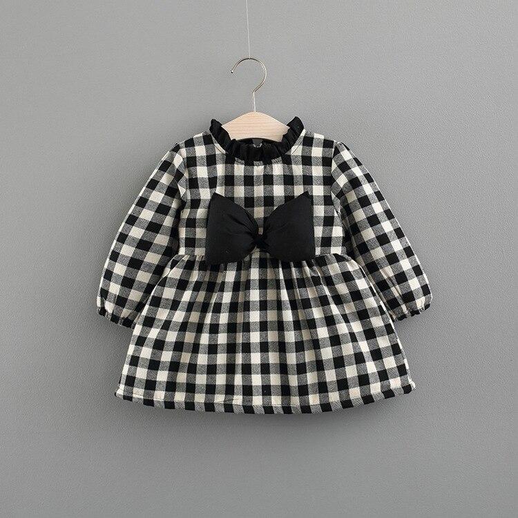 Winter Toddler Baby Dress Girl Plus Velvet Thick Black