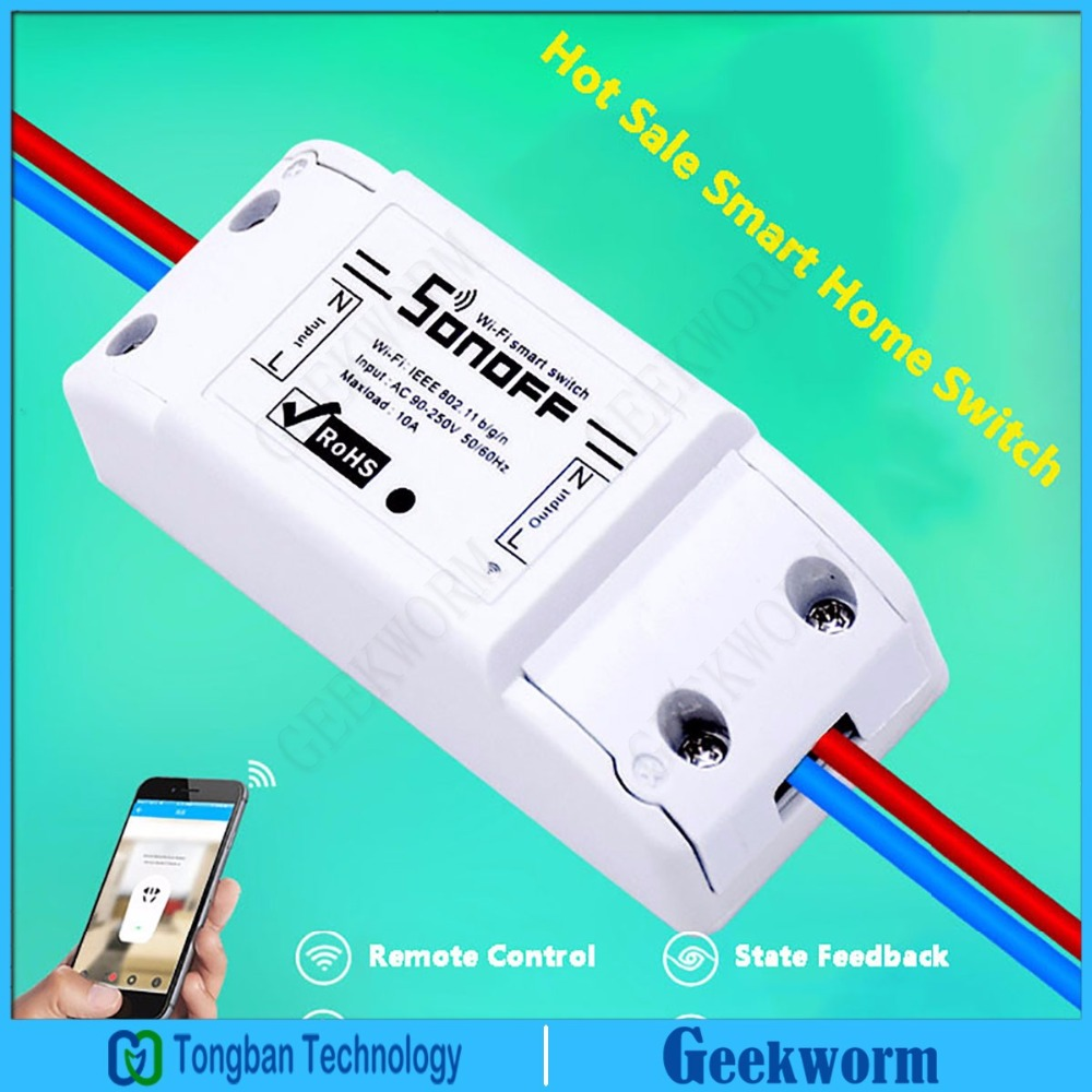 US $14 99 |IoT Sonoff Smart Wireless Wifi Switch APP Remote Control Switch  Module for Smart Home Internet of Things-in Smart Remote Control from