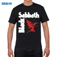 GILDAN Designer T Shirt Spring New Classical Rock Band Black Sabbath T Shirt Men Long Sleeve