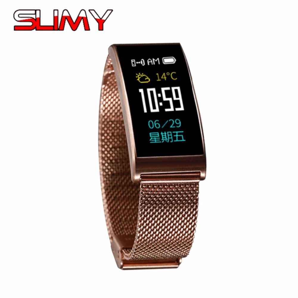 Slimy Smart Band Blood Oxygen Blood Pressure Watches Fitness Sport Bracelet Heart Rate Monitor Call/SMS Reminder Pk Fitbits oxygen rhma 02