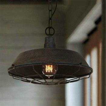 Vintage retro 36cm/46cm chandeliers lamp  metal pendant lampshade warehouse garage style lighting light fixture with edison bulb