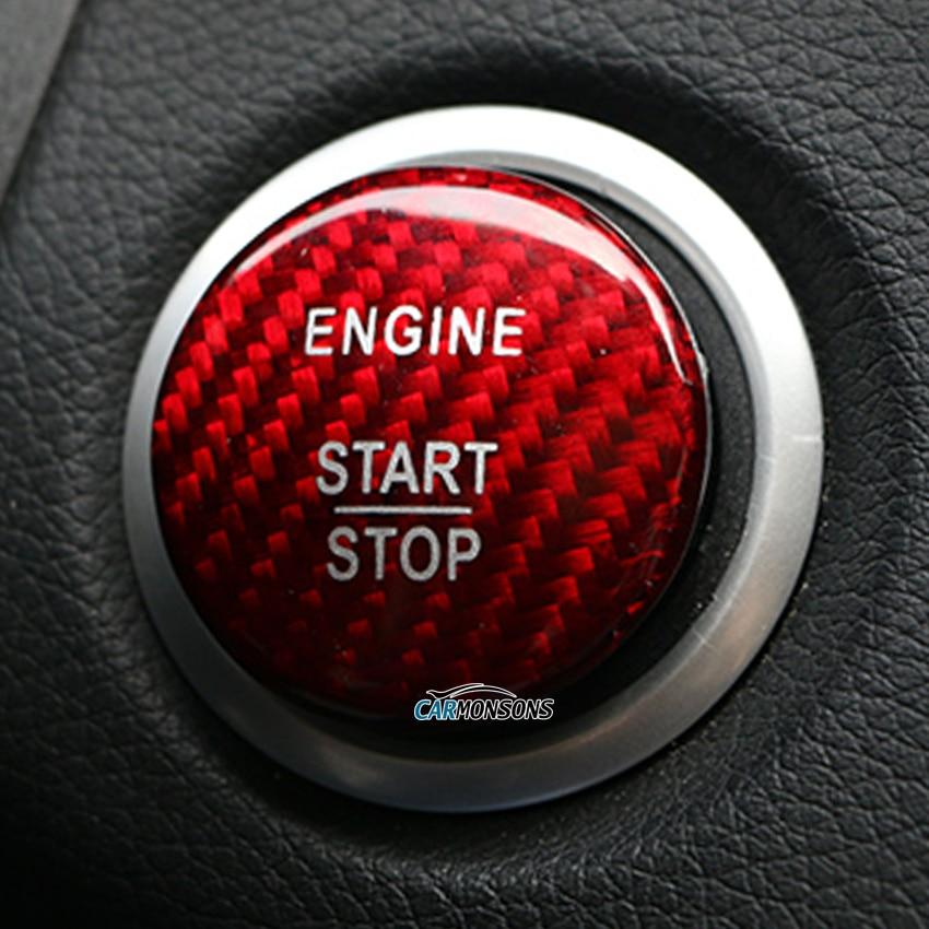 Para Mercedes Benz A B C GLA GLC CIA ML GL Classe W176 W246 W205 X253 X156 C117 Botão de Arranque Do Motor De Fibra De Carbono Tampa Do Carro Styling