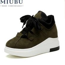 MIUBU Brand Spring Autumn Platform Sneakers Shoes For Women Comfortable Breathable Casual 2019 Tenis Feminino