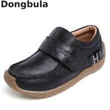 Genuine Leather Kids School Shoes For Boys Dress Sh