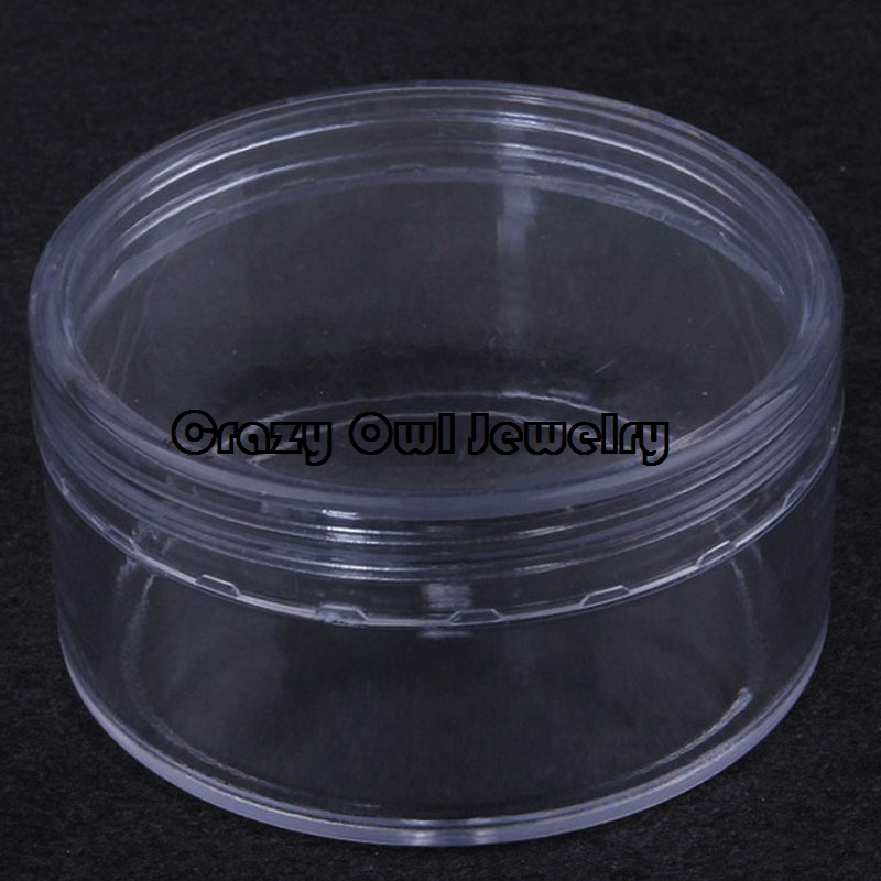 3pcs/pack 70mm Diameter Plastic Clear DIY Jewelry Organizer Box Beads Tool Storage Packaging Accessories Findings Y1455