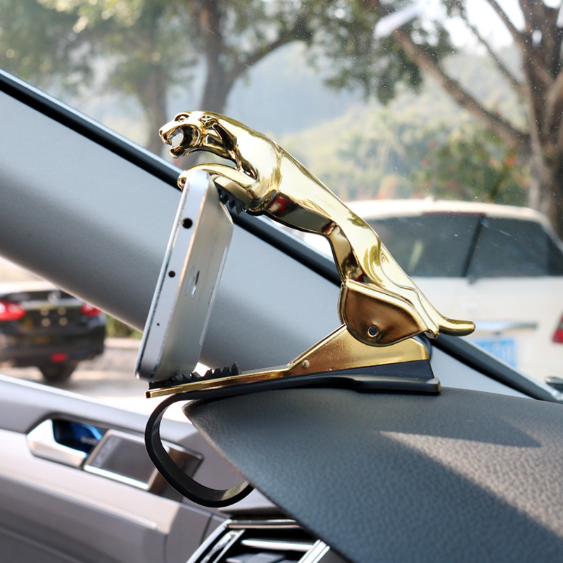 Car Phone Holder Dashboard Mount Universal Leopard Body Cellphone Clip GPS Bracket Mobile Phone Holder Stand (2)
