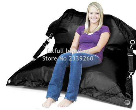 cover only no filler black fexible bean bag chair buggle up garden sofa furnitures - Black Bean Bag Chair