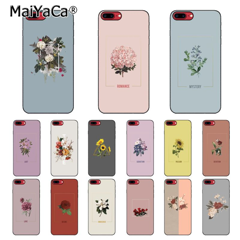 MaiYaCa Love Passion Flower Ball Red <font><b>Yellow</b></font> Rose Sunflower Art Aesthetic <font><b>Phone</b></font> <font><b>Case</b></font> for <font><b>iPhone</b></font> 8 7 6 <font><b>6S</b></font> Plus 5S SE XR X XS MAX image