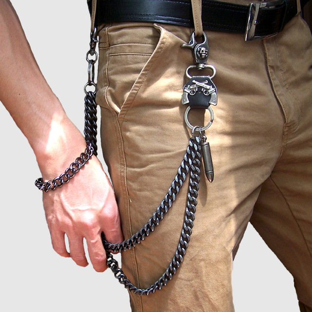 SKULL METAL CHAINS WALLET (5 VARIAN)