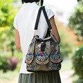 Новый Юньнань национальный ретро вышивка рюкзак цветочные вышитые сумки на ремне, леди холст рюкзак
