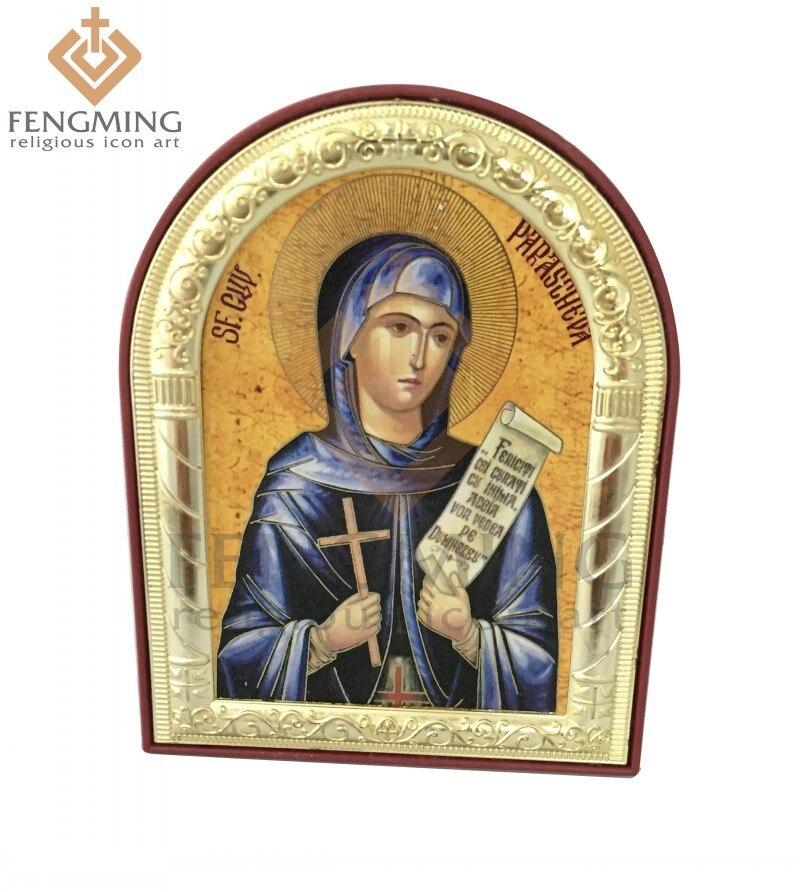 Může vlastní vinobraní katolické náboženské světce obrazy kovové stříbrné zlaté rám na plastové ortodoxní řecké řemeslo dekorace