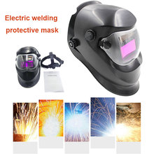 Solar Auto Darkening Black Welding Helmet Head-Mounted Grinding Protective Welder Mask Arc Tig Mig head mounted welding helmet black against ultraviolet ray protective mask pc safety headgear face shield mask glasses