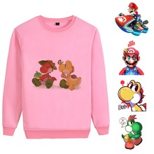 Super Mario/Mario Bros Anime Cartoon Print Cute Pattern Cool Unisex Harajuku Style Round Neck Sweatsuit A193161