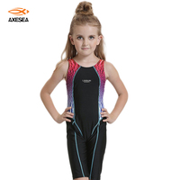 Axesea 1 Piece Hot Sale Patchwork Surf Suit Bodysuit For Kids Swimsuit Girls Lovely Cute Baby