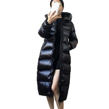 Jackets Hooded-Coats 90%White-Duck-Down Parkas Snow Long-Down Autumn Casual Winter Women
