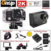 Free Shipping 2K Wifi Gitup Git2 Pro Car Sports Action Camera Control Mic Charger Battery Kits