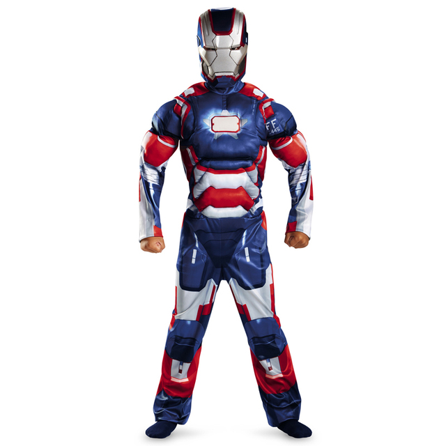 Iron Man Costume Mark 42 / Patriot With Muscles For Kids Child Halloween Cosplay (2 Designs) 2