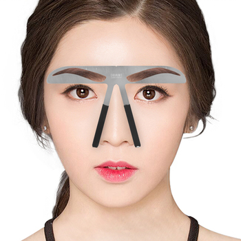 Eyebrow Ruler Stencil Stainless Steel Eyebrow Microblading Permanent Makeup Measure Shaping Balance DIY Template Beauty Tools makeup essential eyebrow shaping razor